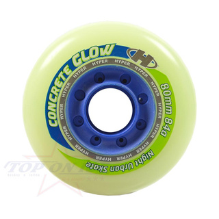 Rollen 4er-SET Hyper Concrete+ Glow in the Dark Hockey 84A