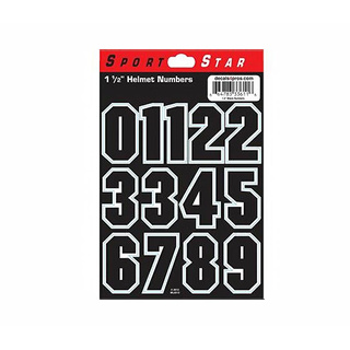 Helmnummern Sportstar Decals Set 0-9