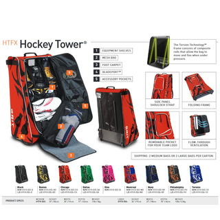 Tasche Grit HTFX Hockey Tower Junior 33 Zoll