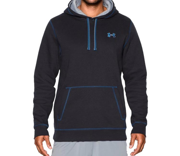 hoodie under armour rival cotton senior xl blau 1250783 4. Black Bedroom Furniture Sets. Home Design Ideas
