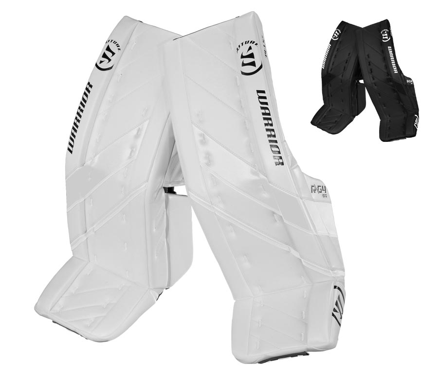 9c67d9820af Goalie Leg Pads Warrior Ritual G4 Senior white   35 Inches + 1.5 ...
